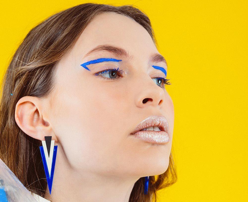Vision   Minimal Perspex Triangle Earrings 1