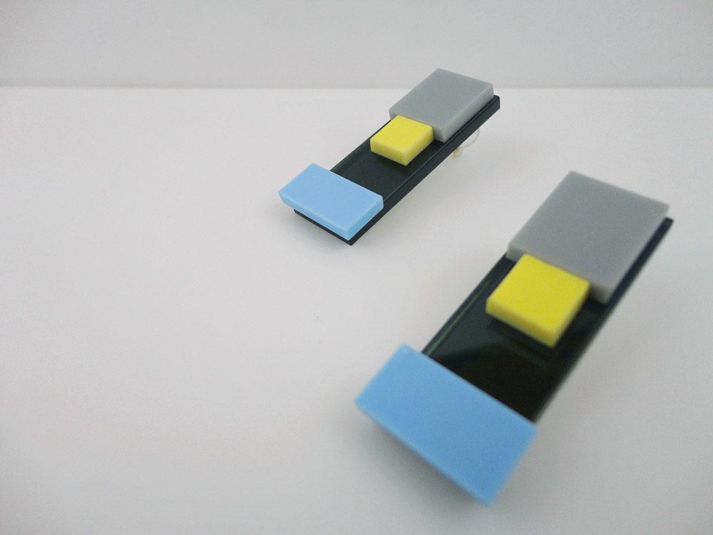 Iso | Multicolor Acrylic Linear Earrings 6
