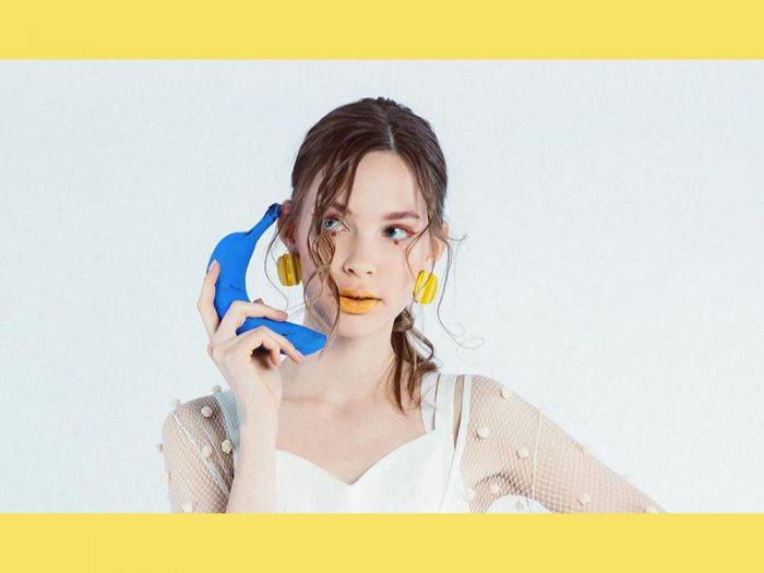 multicolor acrylic button earrings