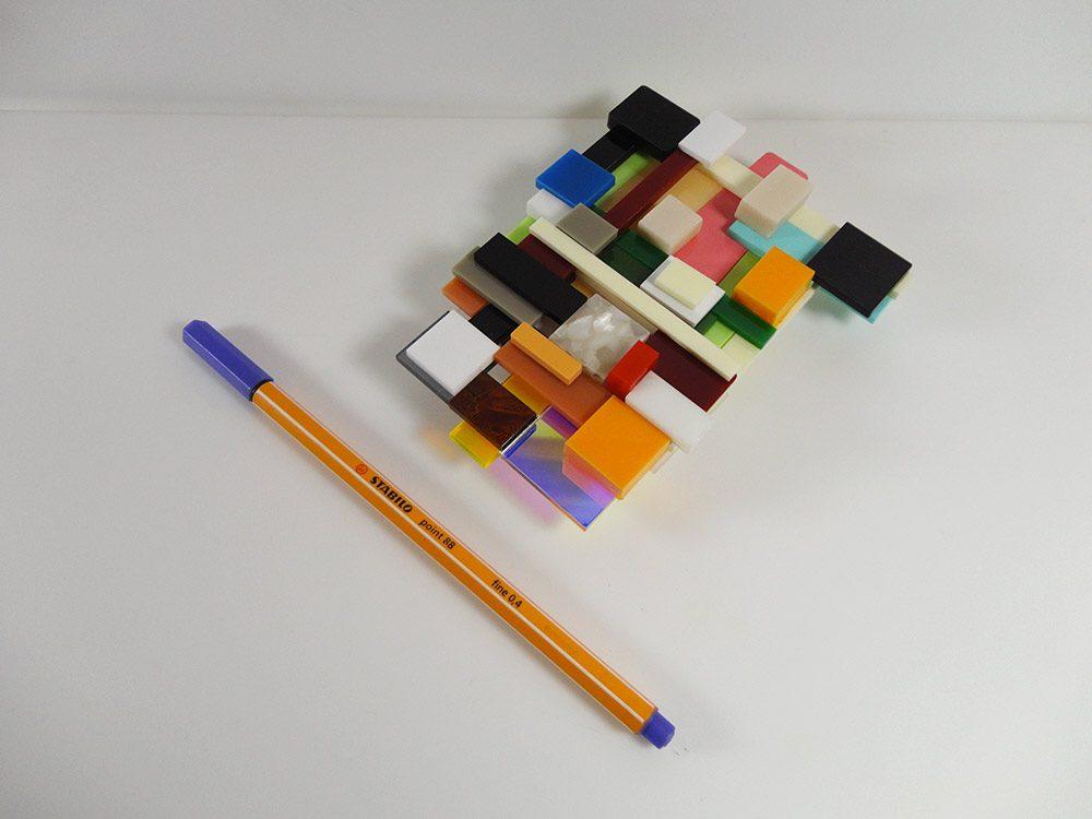 Occident | Unique piece plexiglass art brooch 2