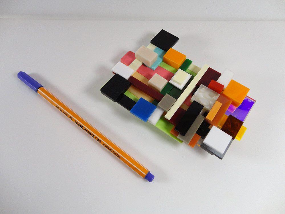 Occident | Unique piece plexiglass art brooch 3