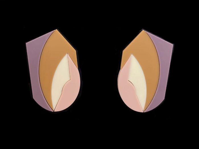 oversized plexiglass earrings