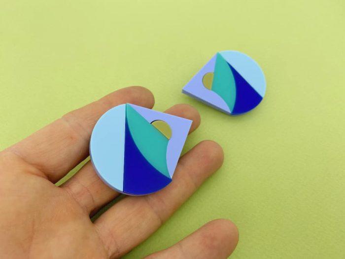 handmade acrylic earrings by plexi shock