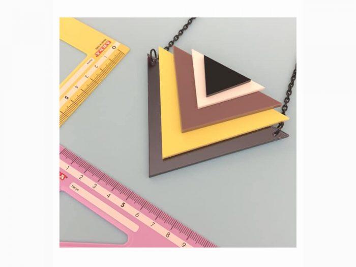 art triangle pendant necklace