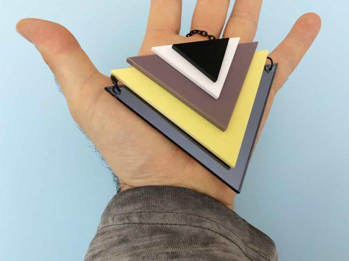art triangle pendant
