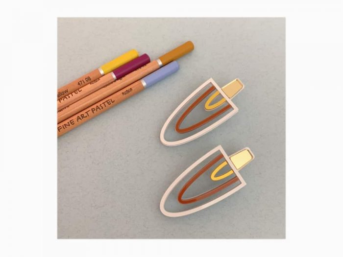 art deco acrylic earrings