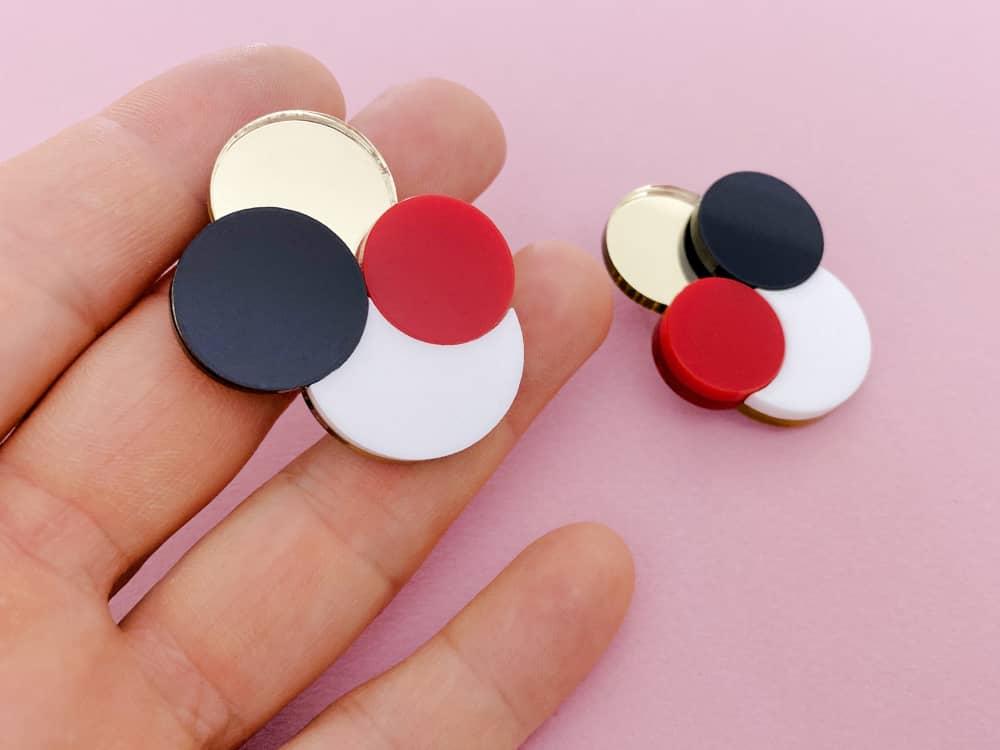 geometrical acrylic stud earrings