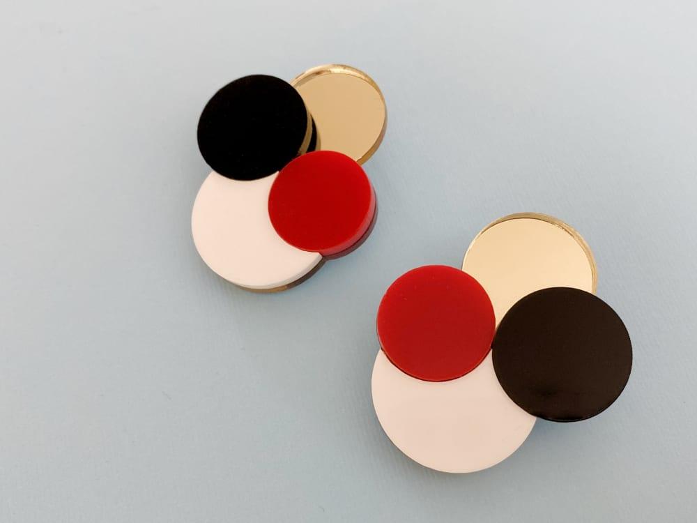 geometrical plexiglass stud earrings