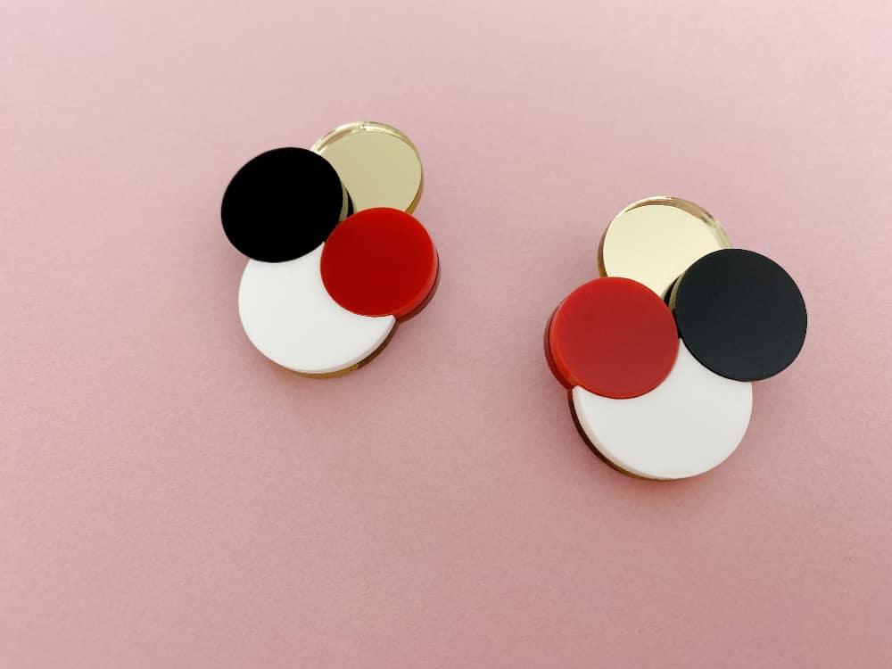 colorful acrylic stud earrings