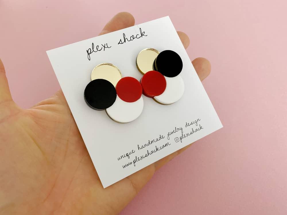 stud perspex earrings