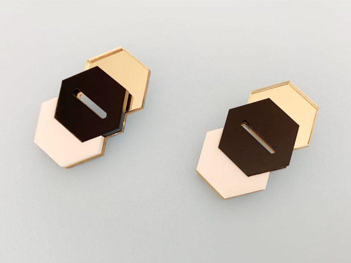 elegant perspex earrings