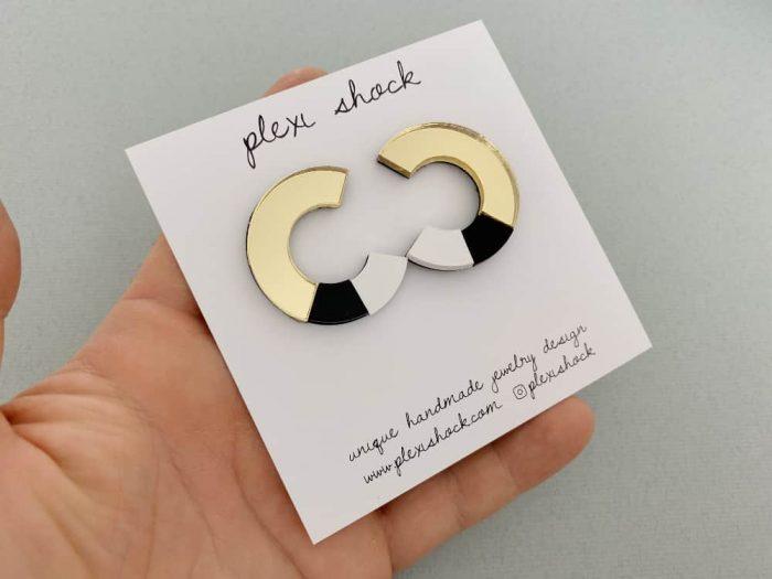 elegant c earrings