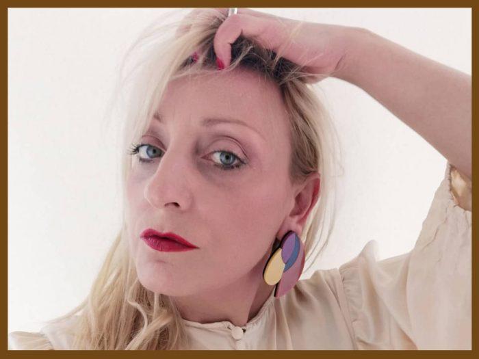 acrylic design stud earrings