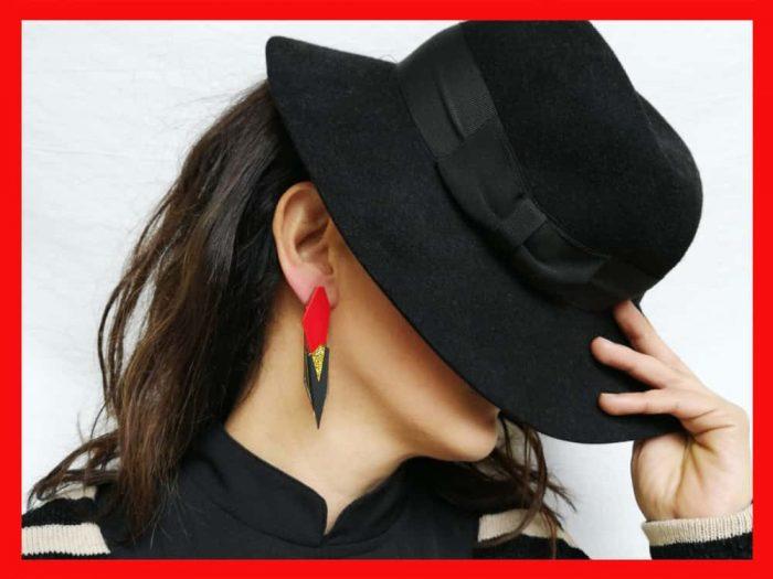 avant deco acrylic earrings