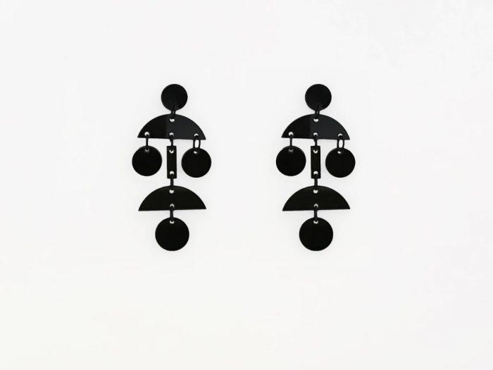 black acrylic dangle earrings