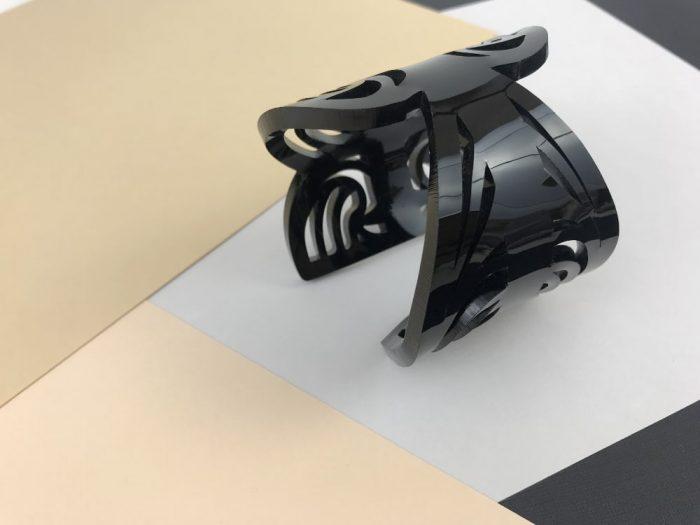 black lace acrylic bracelet by plexi shock