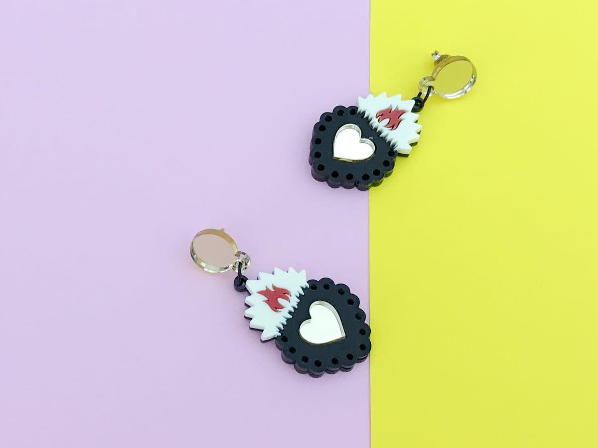 ex voto acrylic earrings