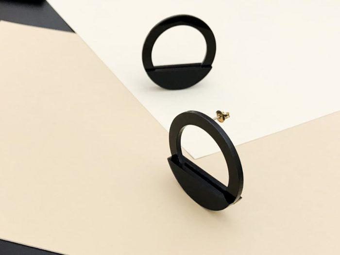 statement circular acrylic earrings
