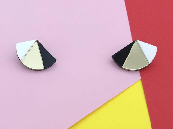 80 style urban stud earrings