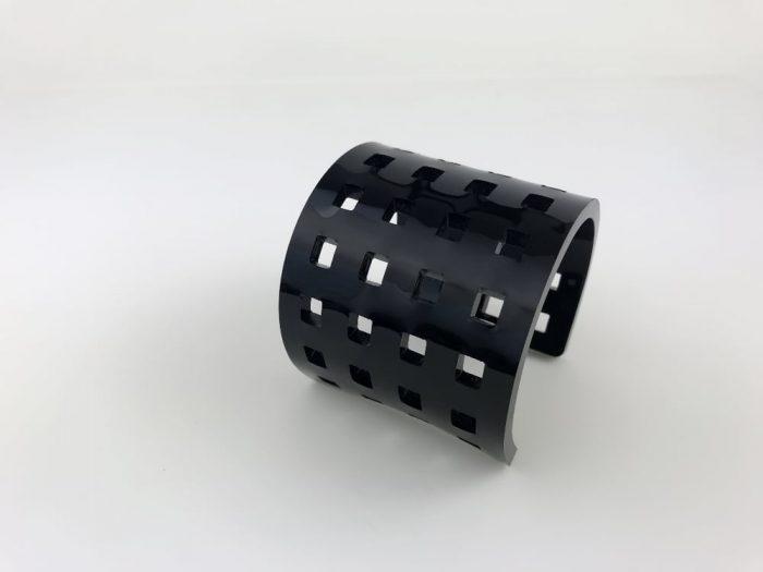 80s black cuff perspex bracelet