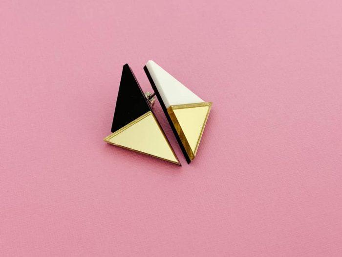 asymmetric triangle earrings by plexi shock
