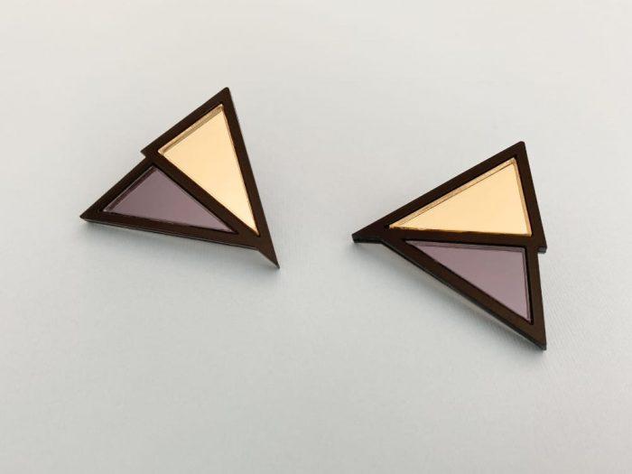 dark triangle earrings
