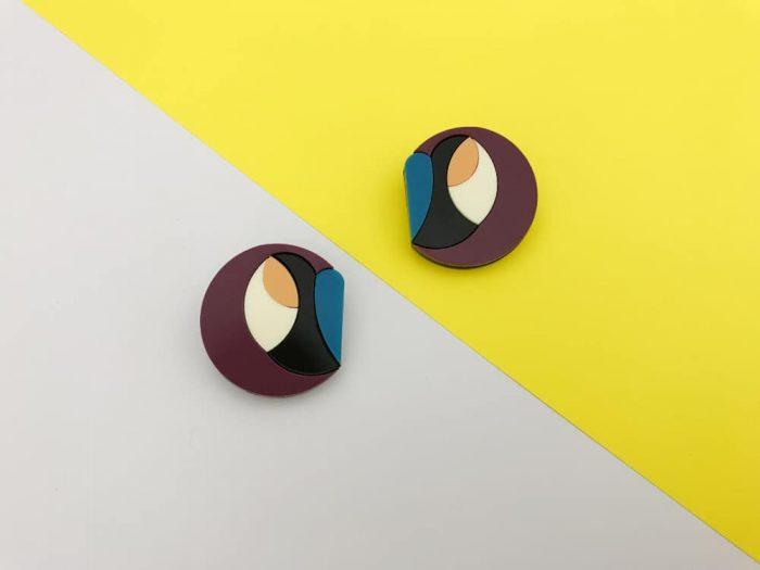 design experimental perspex jewelry earrings by plexi shock