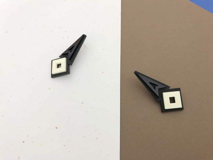 geometric stud perspex earrings