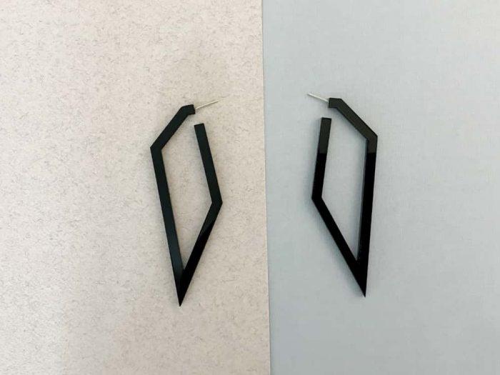 edgy plexiglass stud earrings