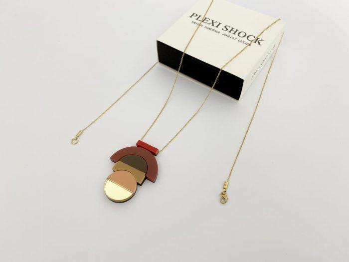 collana pendente geometrica elegante