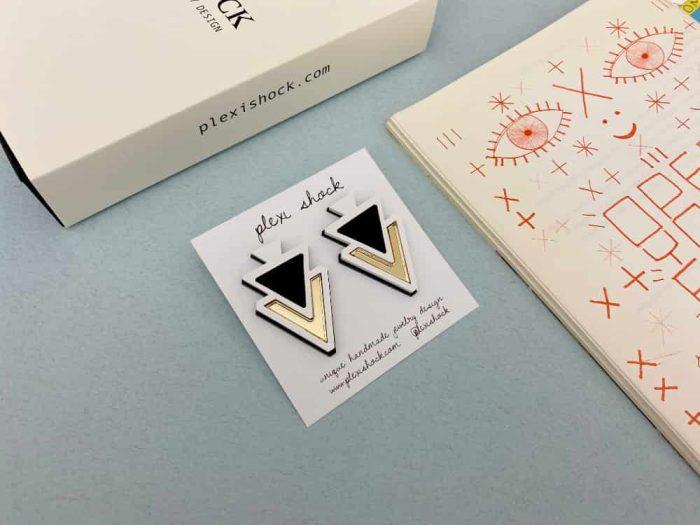 Geometrical Triangle Acrylic Stud Earrings