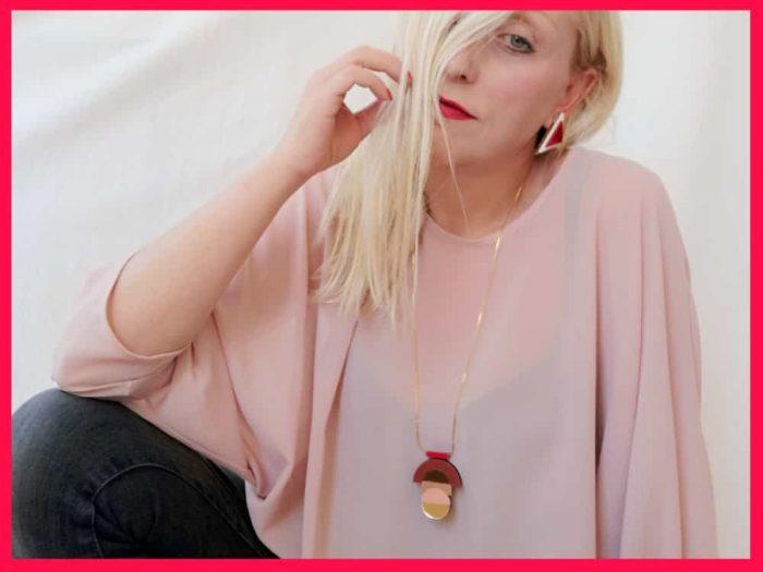 art deco plexiglass necklace