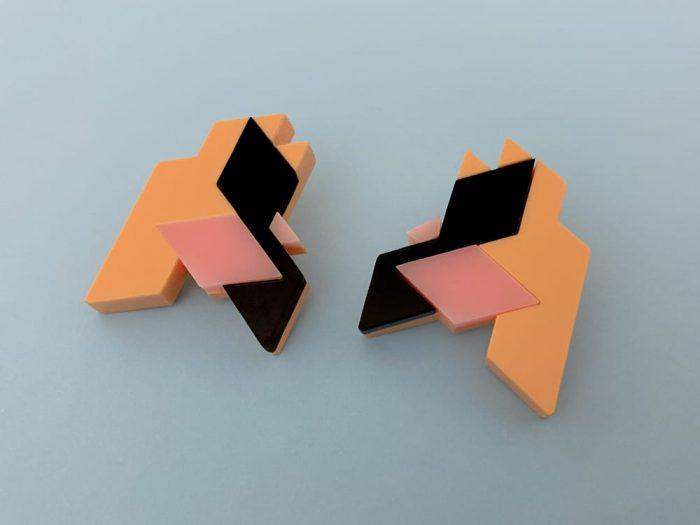 isometric earrings
