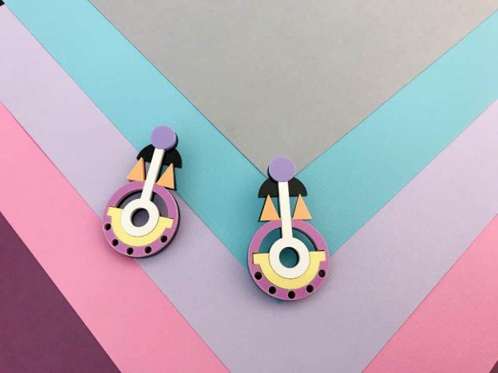 cyclamen earrings