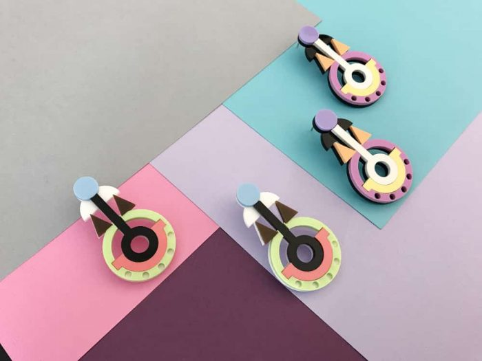 eccentric design earrings