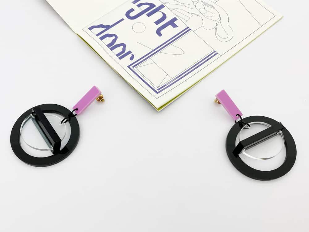 double acrylic hoop earrings