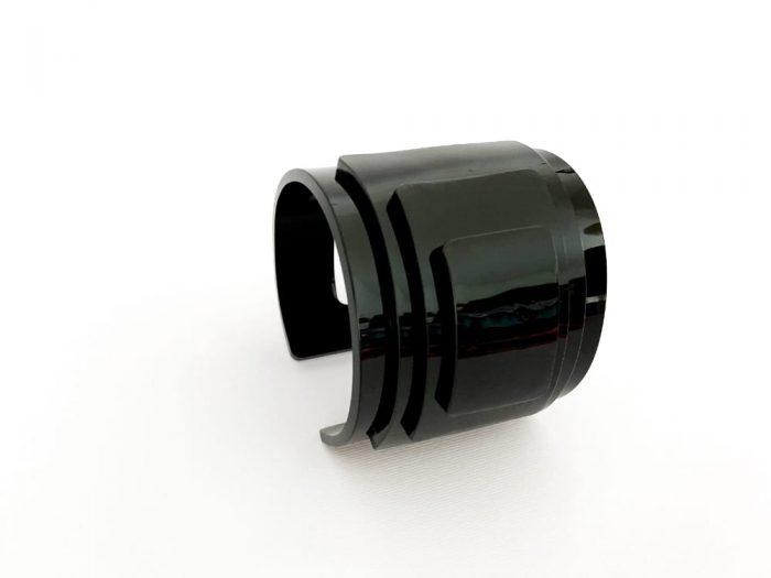 bracciale nero plexiglass architettonico