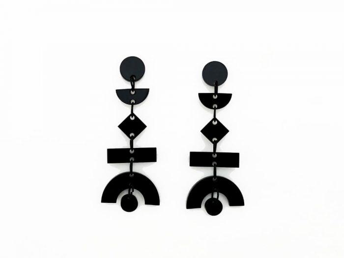 orecchini pendenti acrilici
