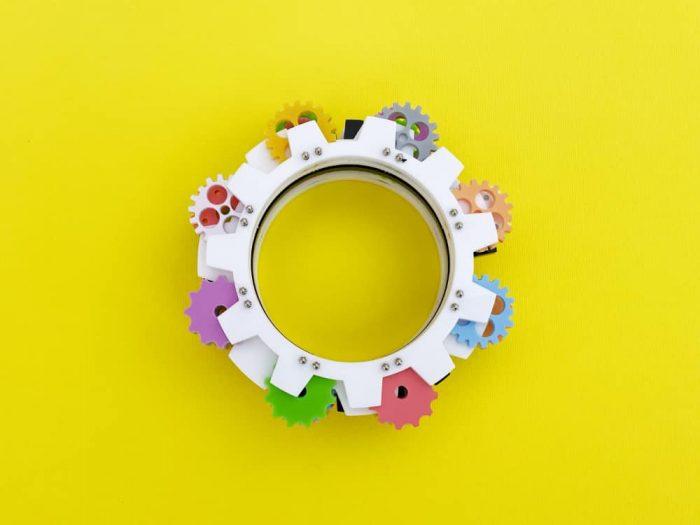 plastic bangle by plexi shock italian design