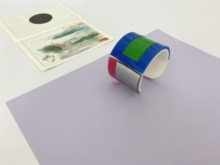 bracciale bangle plexiglass colorato
