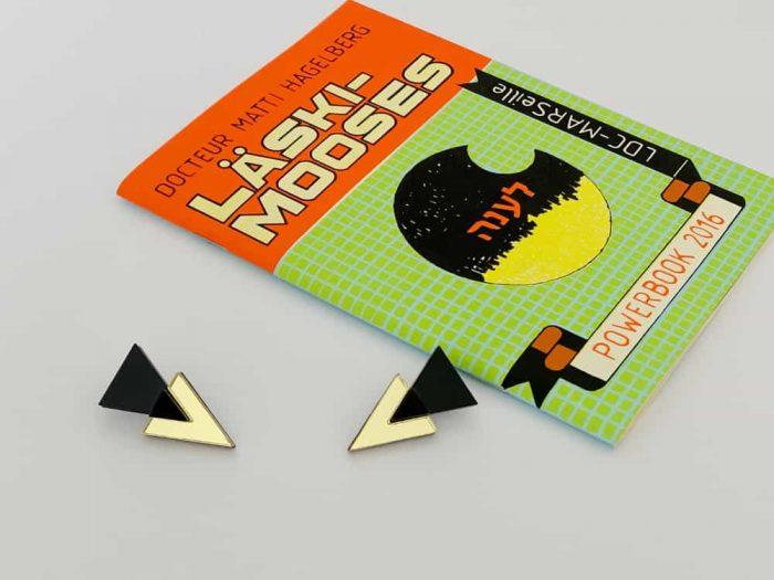 orecchini design geometrico anni ottanta
