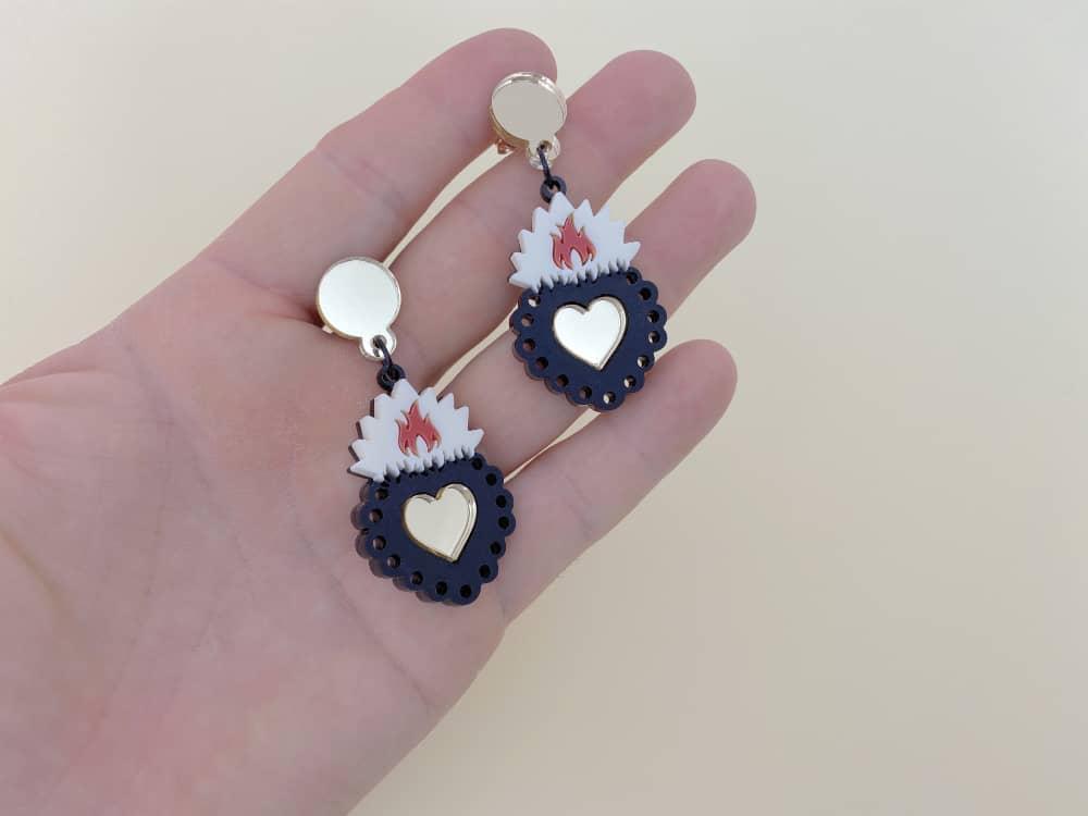 ex voto drop earrings