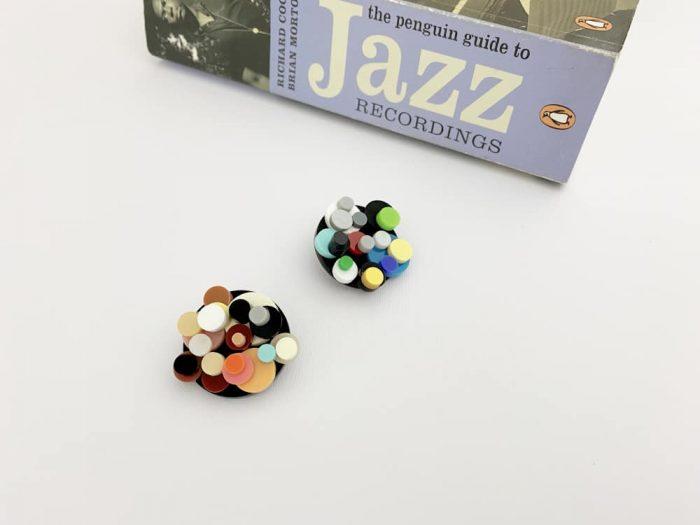experimental free jazz earrings
