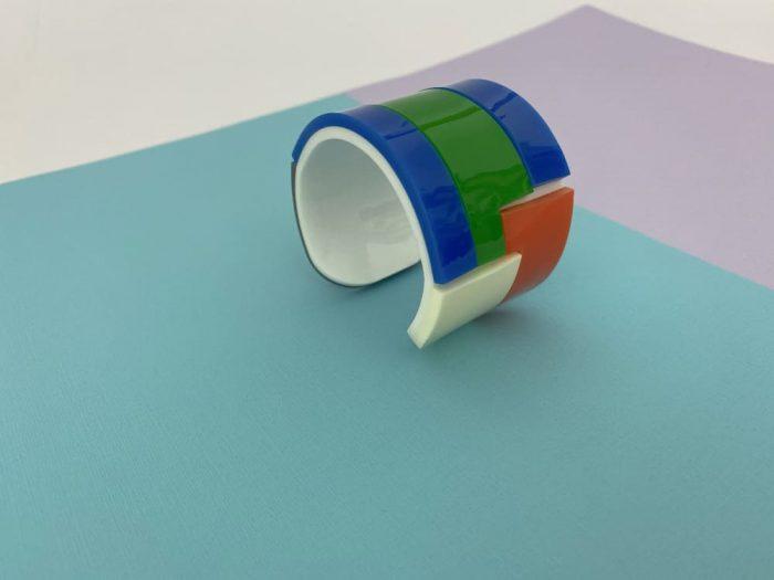 Bracciale Acrilico 80s Multicolore
