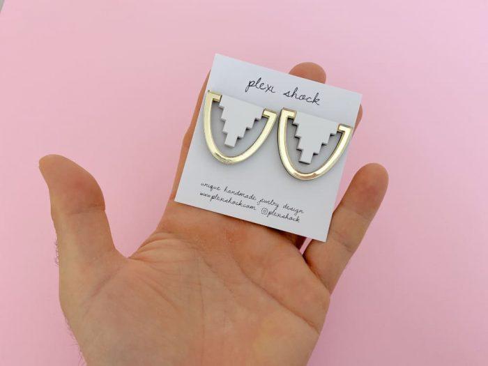 White Egyptian Earrings