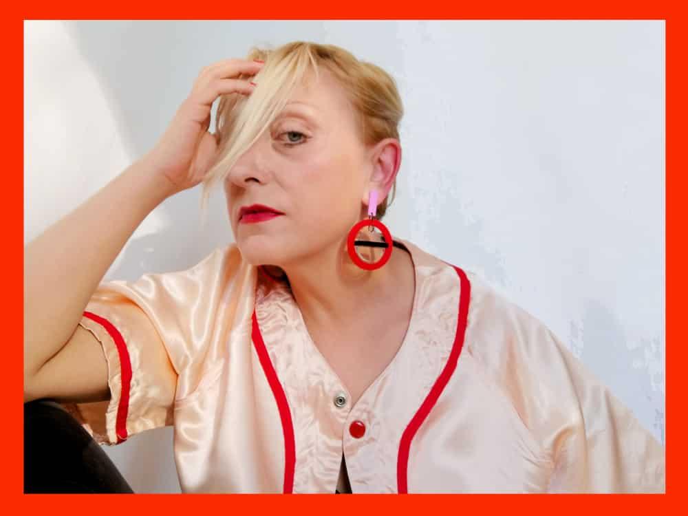 perspex hoop earrings