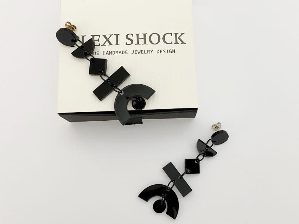perspex dangle earrings