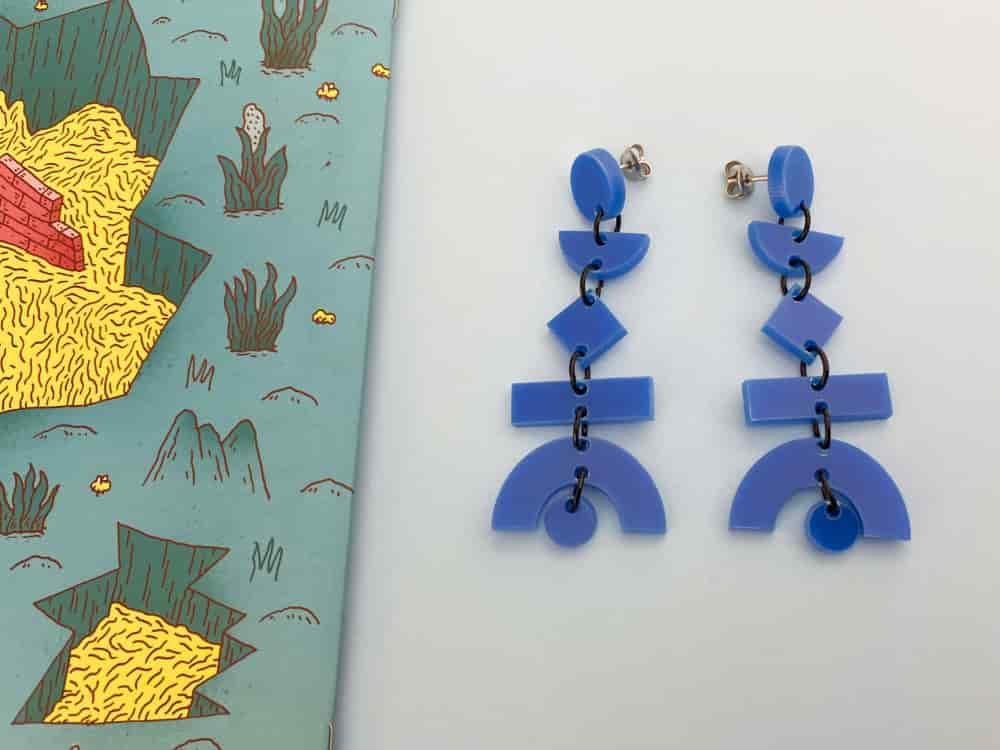 plastic dangle earrings