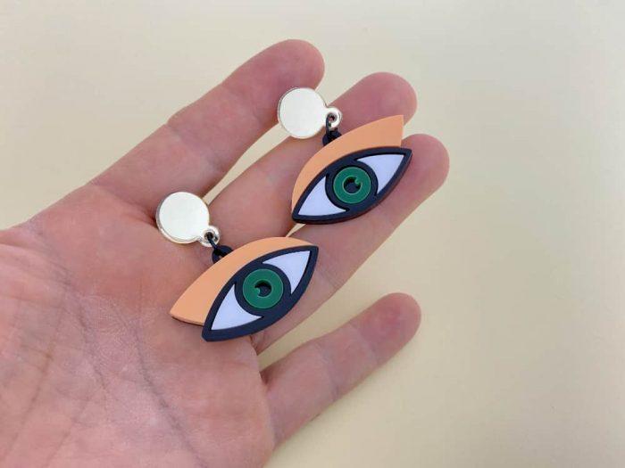 acrylic eye earrings by plexi shock
