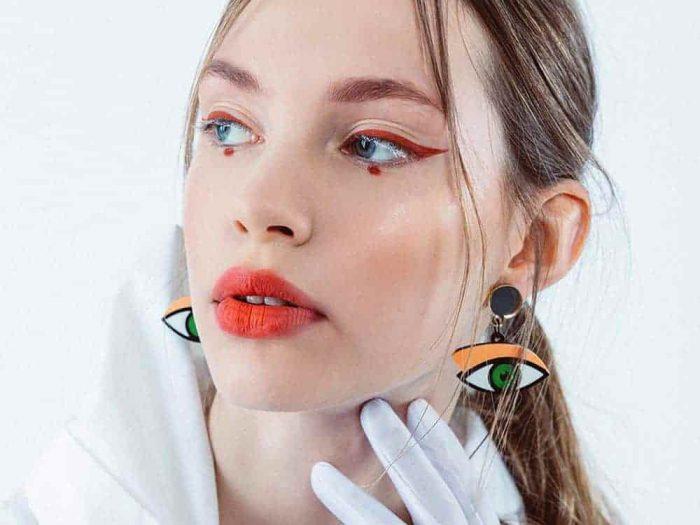 Stud Acrylic Eye Earrings